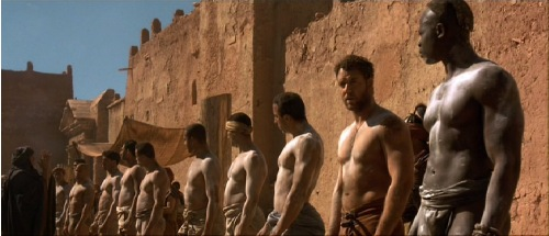 Russell Crowe and Djimon Hounsou in <em>Gladiator</em>