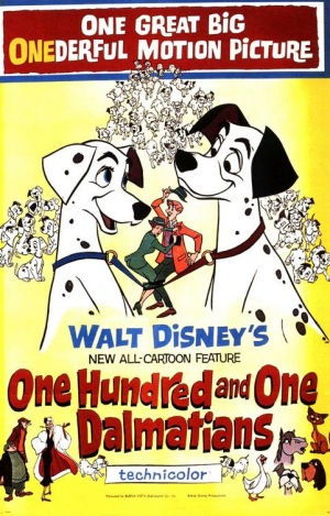 One Hundred and One Dalmatians, 1961, poster