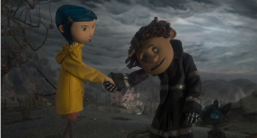 Coraline, 2009, Dakota Fanning, Robert Bailey Jr.