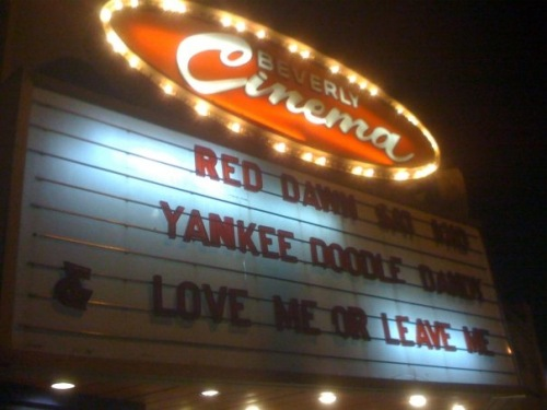 New Beverly marquee 2