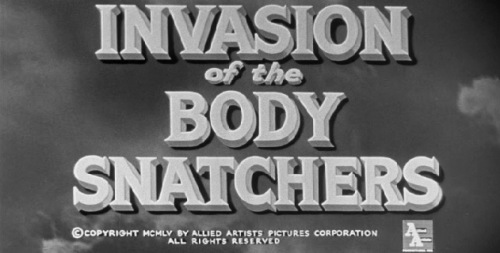 Invasion of the Body Snatchers 1956 title card