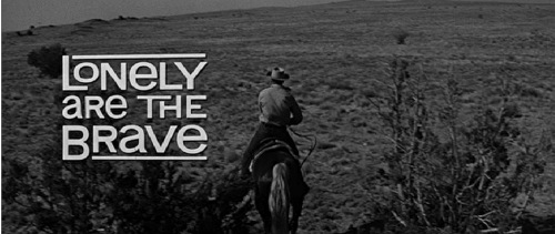 Lonely Are the Brave 1962 title card