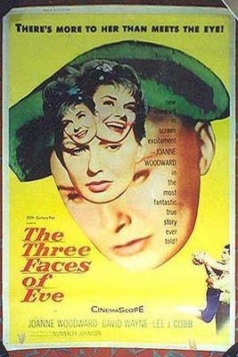 Three Faces of Eve 1957 poster