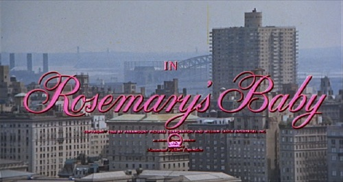 Rosemary's Baby 1968 title card